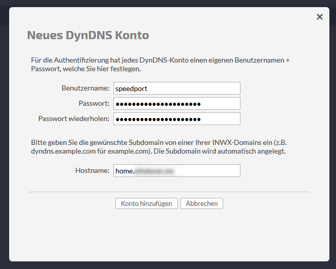 DynDNS-Account bei INWX anlegen